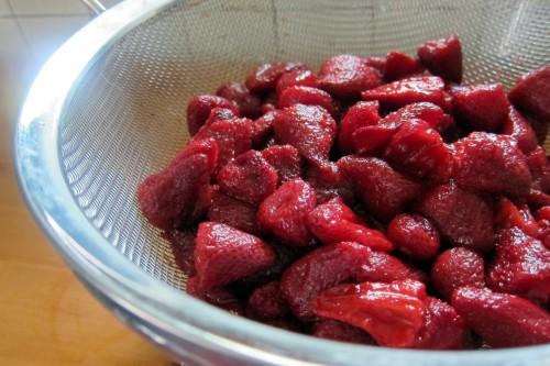 strained strawberries