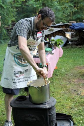 gianluca cooking polenta