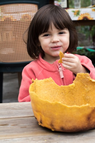 kid with polenta