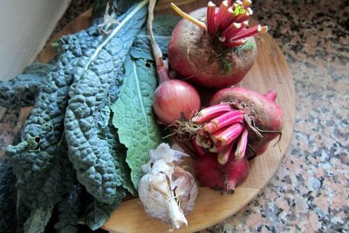 veggies from garden